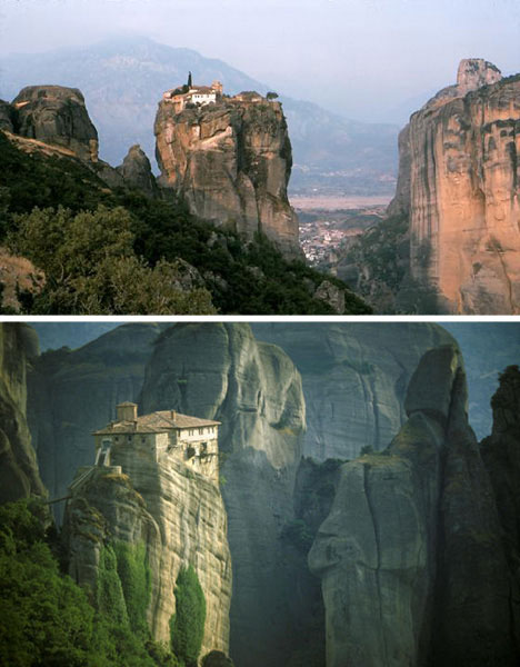 Cliff-dwellings-meteora-monasteries