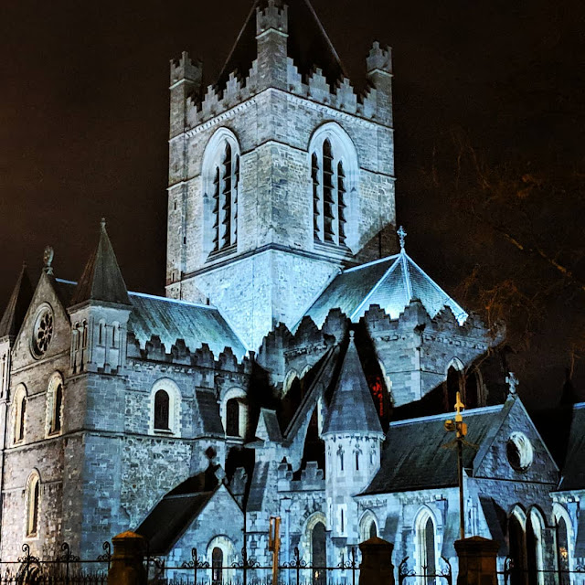 Dublin in a Day: Christ Church Cathedral lit up at night