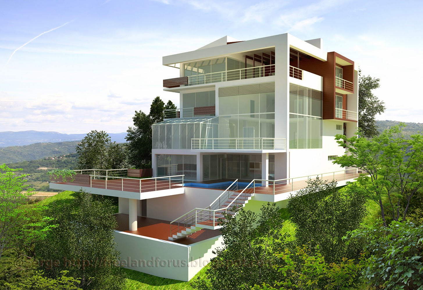 Contemporary style house. Part 2