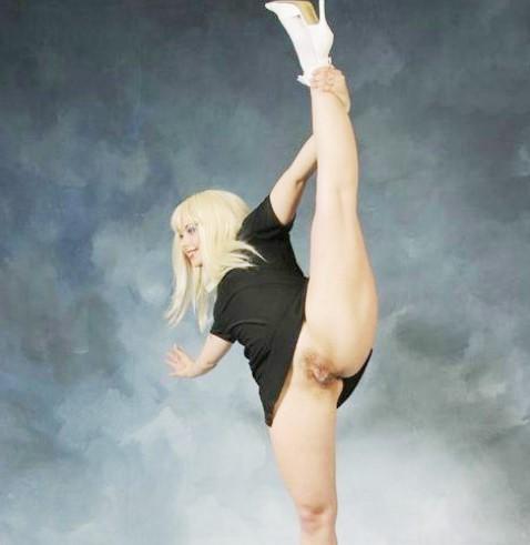 Фото эротика Гимнастки без трусов! Балерина без трусиков (Эро xxx фото)