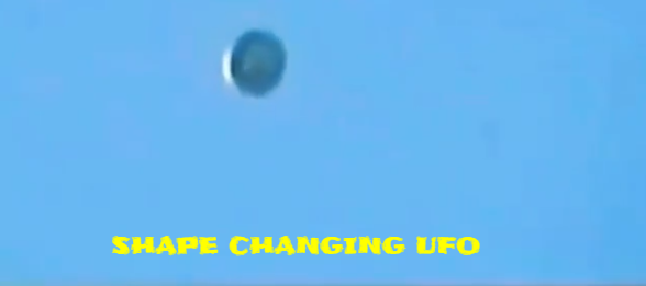Shape shifting UFO and colour changing UFO.
