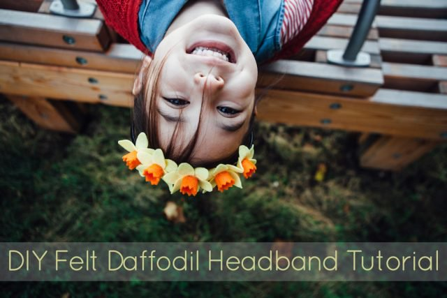 Pretty felt daffodil headband