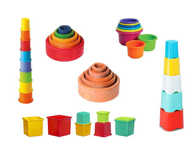 Why I love stacking cups and some Montessori friendly ways to use them!