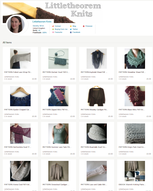 folksy, craft, online shop, knitting patterns