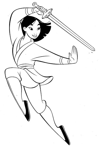 Mulan Fighter Coloring Pages For Kids  Printable Mulan Coloring Pages For  Kids