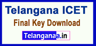 Telangana TS ICET Final Key TSICET Final Key Download