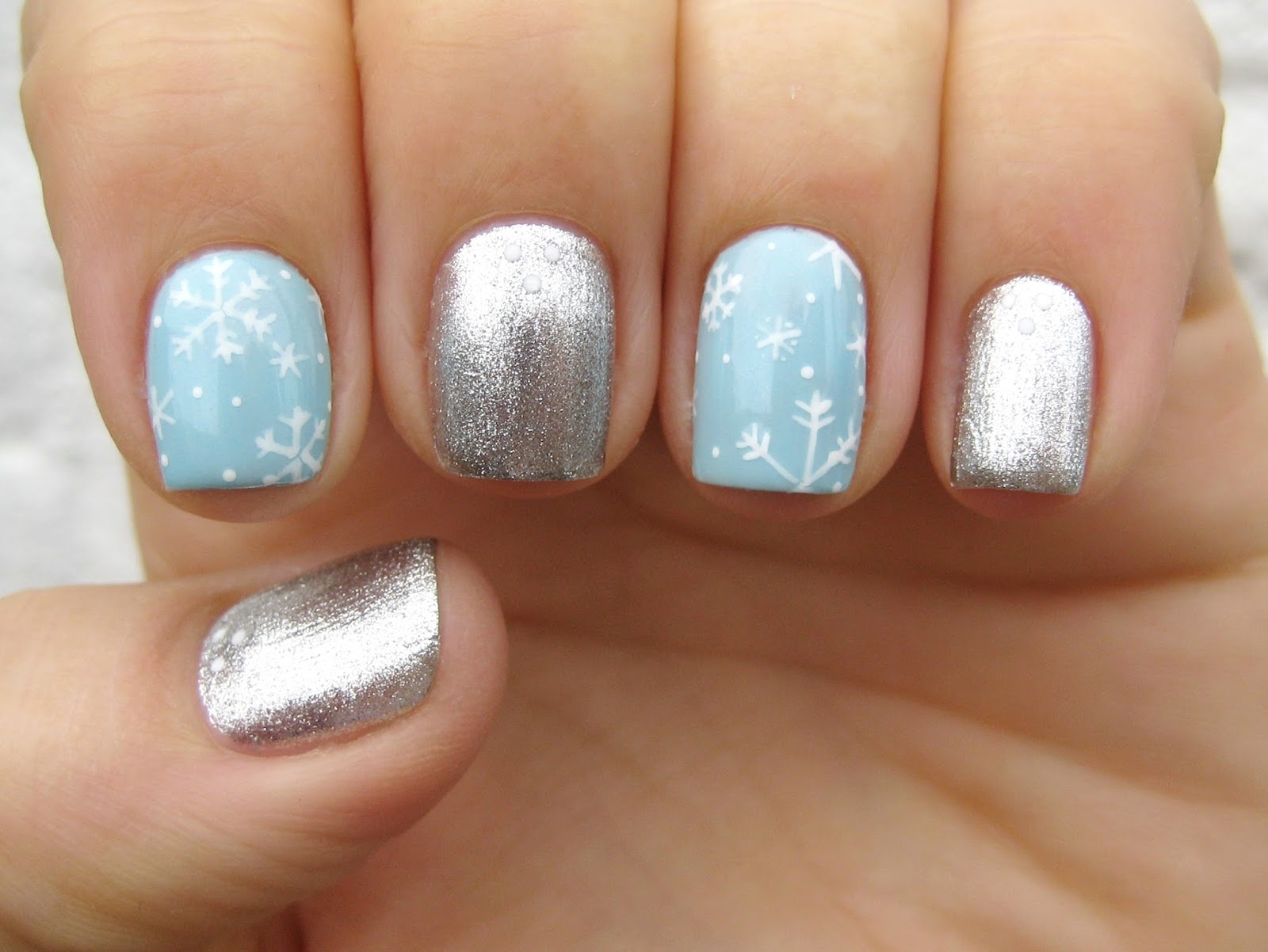 Dahlia Nails Winter On Our Nails