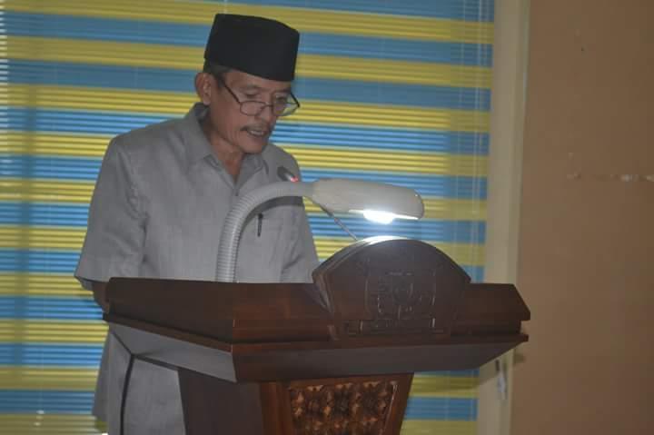 Wakil Ketua DPRD Kota Tanjungbalai Leiden Butar Butar SE dalam rapat paripurna DPRD Kota Tanjungbalai.