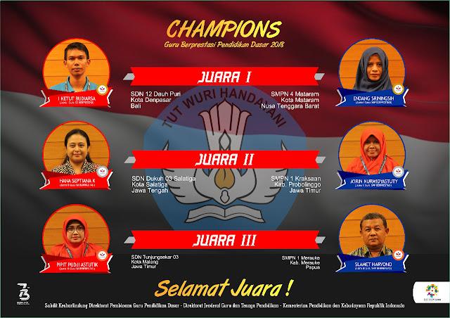 Juara Guru Berprestasi Tingkat Nasional Tahun 2018