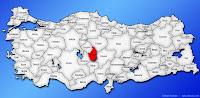Nevşehir ilinin Türkiye haritasında gösterimi