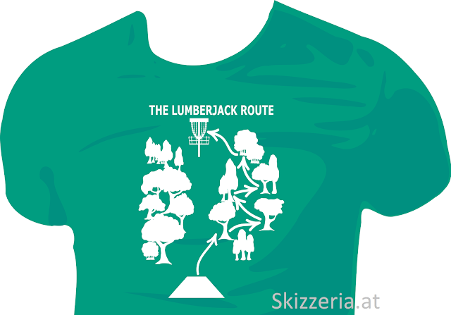 Disc Golf Shirt The Lumberjack Route