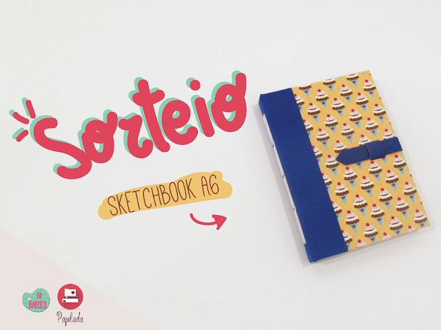 sorteio sketchbook papelada
