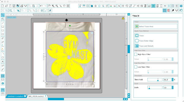 Silhouette CAMEO tracing tutorial print and cut