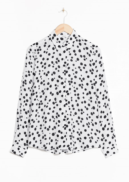 dalmatian print shirt, stories spotty shirt,
