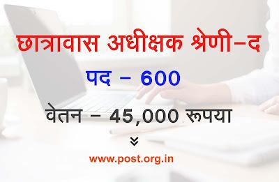 CG Vyapam Hostel Superintendent Recruitment