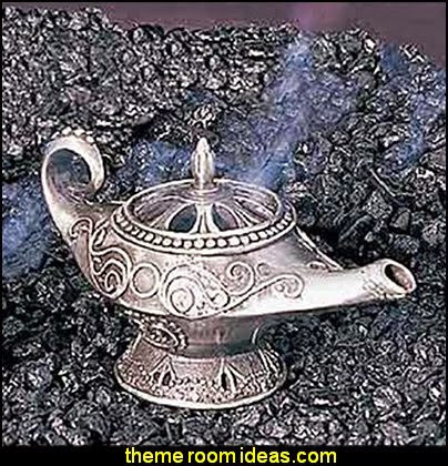 Genie Lamp Pewter Collectible Incense Cone Burner Aromatherapy