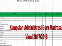 Kumpulan Administrasi Guru Madrasah Versi 2017/2018