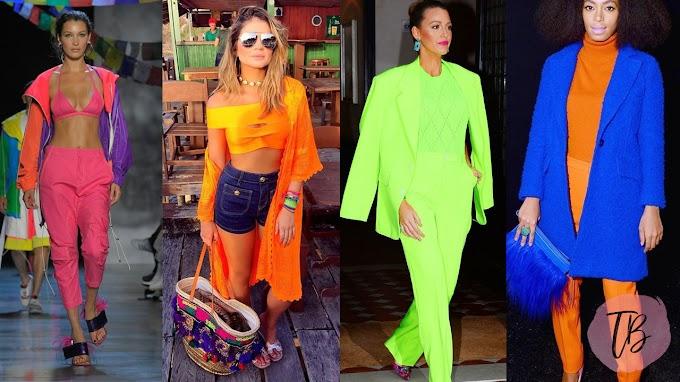 Têndencia - Neon na moda