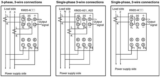 Difference between (3Phase,3Wire), (1Phase,3Wire), (1