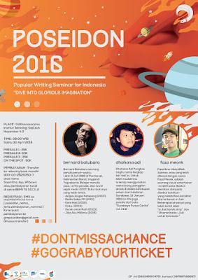 """Seminar Kepenulisan dan Lomba Menulis - """"CeativeWriting"""" POSEIDON 2016"""