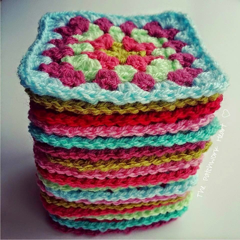 How To Crochet A Granny Square Beginners Tutorial : The Patchwork Heart: Granny Square Tutorial