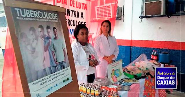 Atividades marcam o dia mundial de luta contra tuberculose em Duque de Caxias