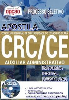Apostila CRC Ceará  Auxiliar Administrativo grátis CD ROM