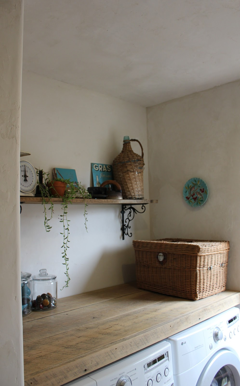 European Farmhouse Charm Our Pantry Amp Laundry Room Makeover