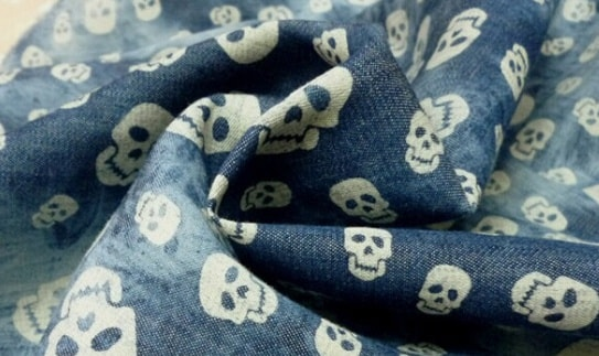 Reactive print on denim