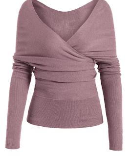 Jersey rosa cruzado