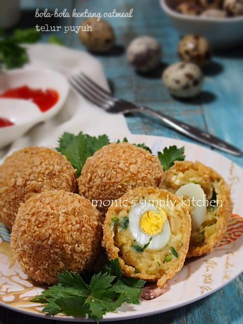 bola kentang oatmeal telur puyuh