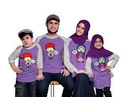Model Kaos Couple Keluarga 2 Anak Lengan Panjang Terbaru