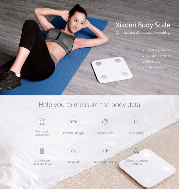 Coupon Xiaomi Bluetooth 4.0 Smart Weight Scale