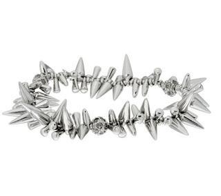 stella dot cluster bracelet silver