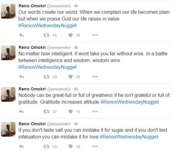 Reno Omokri drops advice for Nigerian men