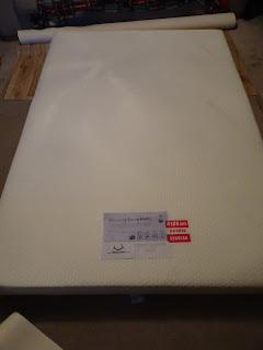 memory foam mattress in van
