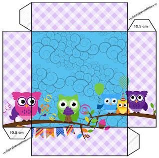Colored Owls: Free Printable Quinceanera Boxes.