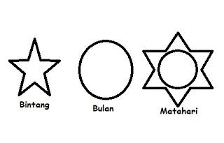 gambar bulan bintang dan matahari