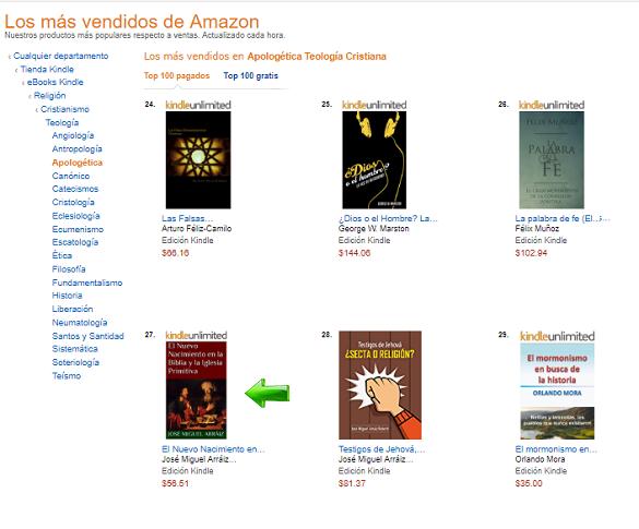 El Nuevo Nacimiento en la Biblia y la Iglesia Primitiva, Best Seller en Amazon México