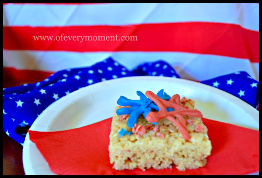 Red, White, and Blue. Add an Easy Patriotic Touch to Any Treat!