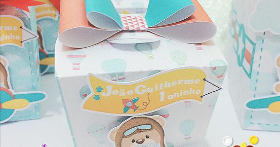 Molde de caixa Sushi Personalizado - Ursinho Aviador - Molde caixa ursinho  aviador grátis - Dicas pra Mamãe 04a87f0c19