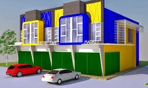 desain ruko sederhana 2 lantai | desain properti indonesia