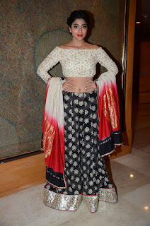 Actress Shriya Saran Pictures in Lehenga Choli at Maheka Mirpuri Show 0005
