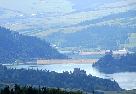 Jezioro Czorsztyńskie.