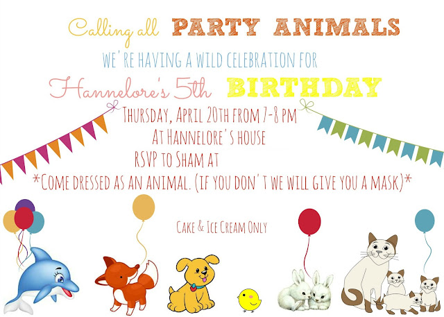 Animal Birthday Party