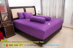 Sprei Custom Katun Jepang Dewasa Polos Purple Ungu