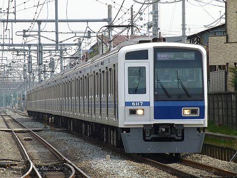 西武池袋線 快速急行 飯能行き3 6000系