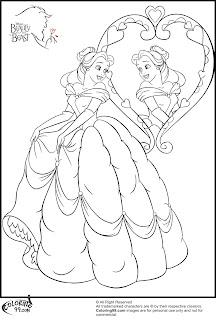 Disney Princess Belle Coloring Pages   Team colors