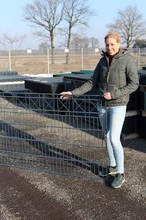 Carina hat sich einen Zaun für ihr Eigenheim ausgesucht.