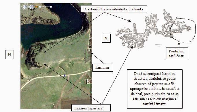 Pestera de la Limanu - harta - Google Maps